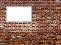 Blank brick sign wall Fotografering för Bildbyråer