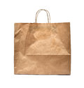 Blank brown paper bag Royalty Free Stock Images