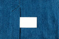 Blank business card with copy space in a pocket of blue jean Royalty Free Stock Photo