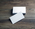 Blank bussiness cards Royalty Free Stock Photo