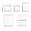Blank calendar isolated on white desktop background Stock Photos