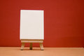 Blank canvas mini with easel Royalty Free Stock Images
