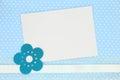 Blank Card On Blue Polka