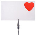 Blank card  with a red heart Stock Photo