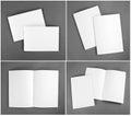Blank catalog, brochure, magazines, book mock up. Royalty Free Stock Photo