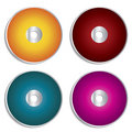 Blank cd & dvd labels Stock Photography