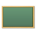 Blank chalk green board in a wood frame for write and teach on w Royalty Free Stock Photo