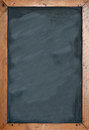Blank chalkboard with brown wooben frame empty space for insertion and to add text Royalty Free Stock Photography