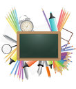 Blank chalkboard illustration of with school object Stock Photography