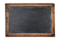 Blank chalkboard vintage isolated on white Royalty Free Stock Photos
