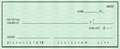 Blank check with false numbers Royalty Free Stock Photo