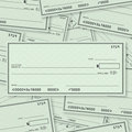 Blank Check Pile Background Open Space for Text Royalty Free Stock Photo