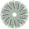 Blank Checks Spiral Pattern - Financial Freedom Royalty Free Stock Photo