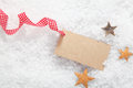 Blank Christmas label Stock Photos