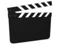 Blank clapboard isolated Stock Photo