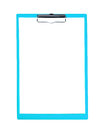 Blank clipboard blue on a white background Royalty Free Stock Image