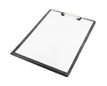 Blank clipboard on white background with clipping path Royalty Free Stock Image