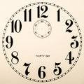 Clock dial - no hands Royalty Free Stock Photo