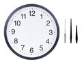 Blank clock face Royalty Free Stock Photo
