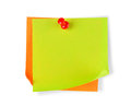 Blank colorful papers with clip Royalty Free Stock Photo