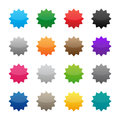 Blank colorful stickers in various colors Royalty Free Stock Image