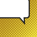 Blank comic balloon template. Clear comics colorful speech bubbles halftone dot background style pop art. Text dialog