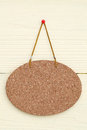 Blank cork board hang on the wall background Stock Photos