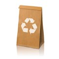 Blank craft vector realistic paper packaging bag with recycle sign and place for your design and branding isolated on white Stock Photo