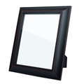Blank dark picture frame isolated Stock Photo