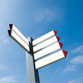 Blank directional arrow sign Royalty Free Stock Photo