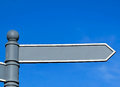 Blank directional sign Royalty Free Stock Photo