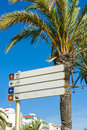 Blank directional signs Royalty Free Stock Photo