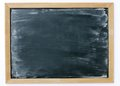 Blank dirty chalkboard slightly for background Stock Image