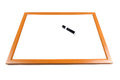 Blank dry erase board with marker Royalty Free Stock Photo
