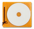Blank DVD case and disc Royalty Free Stock Photo