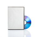 Blank dvd with cover on white background Royalty Free Stock Photography