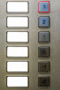 Blank Elevator Keypad Buttons Floors -2 to 3 Labels Background Royalty Free Stock Photo