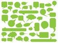 Blank empty speech bubble silhouettes set. Simple flat vector illustration Royalty Free Stock Photo
