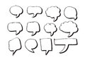 Blank empty speech bubbles an images of Stock Photo