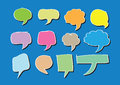 Blank empty speech bubbles an images of Stock Image