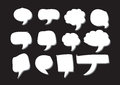 Blank empty speech bubbles an images of Stock Images
