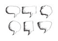 Blank empty speech bubbles an images of Stock Photography