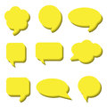 Blank empty white speech bubbles. Volumetric Stickers of speech bubbles vector set Royalty Free Stock Photo