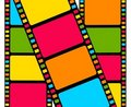 Blank film colorful strip Stock Photography