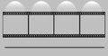 Blank film strip Royalty Free Stock Images