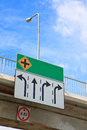 Blank Flyover Signs