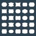 Blank frame label. Empty paper different shapes, decorative vintage card labels. Simple borders tags sticker set, memo