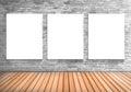 Blank Frame Three White Board ...