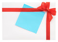 Blank gift with a red bow or letter Stock Photography