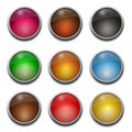 Blank, glass web buttons Royalty Free Stock Photo